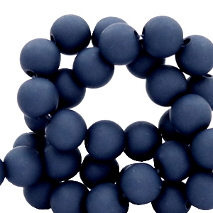 Acryl kralen 8mm peacoat blue
