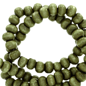 Nature houten kralen 6mm olive green