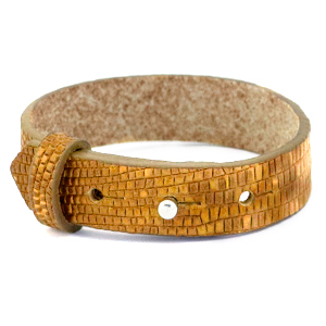 Cuoio armband 15mm golden harvest
