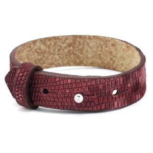 Cuoio armband 15mm magenta purple