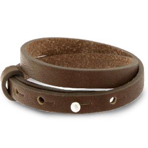 Cuoio armband 8mm alcazar brown dubbel
