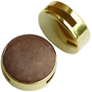 Cuoio schuiver 20mm goud