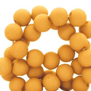 Acryl kralen 4mm golden yellow