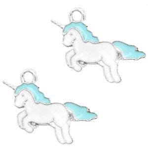 Bedel unicorn blauw zilver