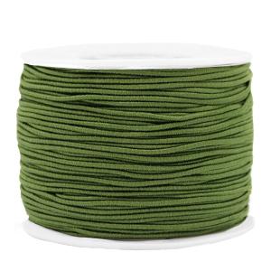 Elastiek 1.2mm olive green