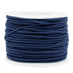 Elastiek 2mm dark blue