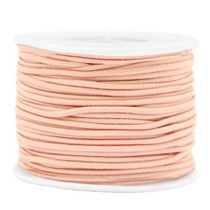 Elastiek 2mm peach blush pink