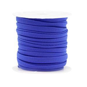 Elastisch Ibiza lint 4mm cobalt blue