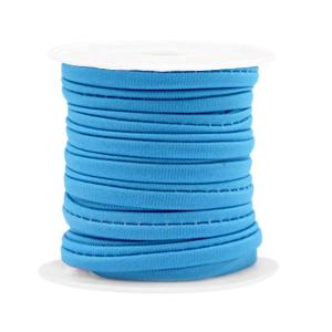 Elastisch Ibiza lint 4mm cyan blue