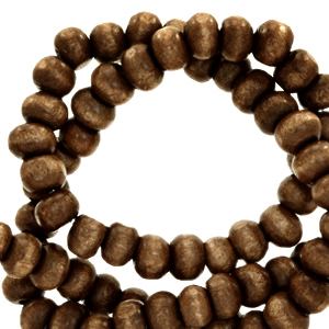 Nature houten kralen 8mm chocolate brown