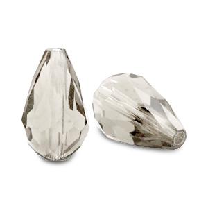 Top facet kraal druppel 12x18mm black diamond