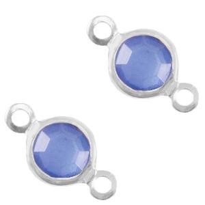 Tussenstuk crystal glas rond crystal silver