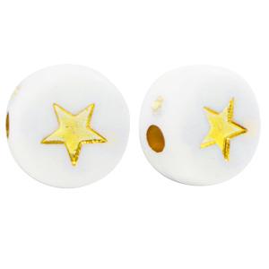 Letterkraal ster wit goud